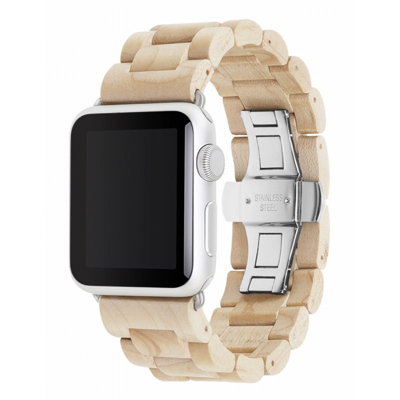 woodcessories 42mm  Woodcessories EcoStrap Apple Watch Band 42mm, maple silver ...