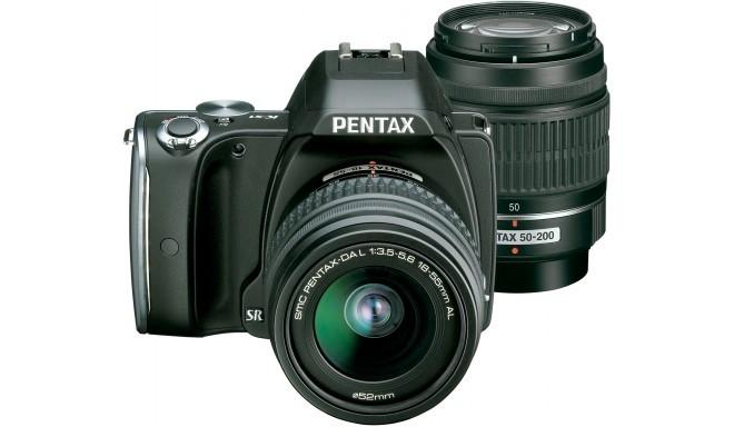 Pentax K-S1 + 18-55мм + 50-200мм Kit, чёрный