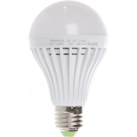 Omega LED lamp E27 7W 2700K (42359)
