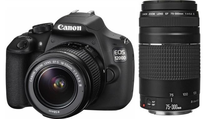 Canon EOS 1200D + 18-55мм + 75-300мм + Joby Kit