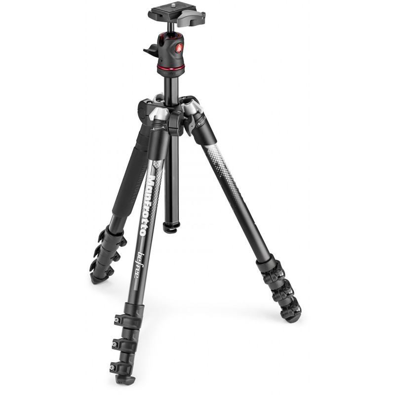 Manfrotto statiiv Befree Color MKBFRA4GY-BH, hall (karp puudu)