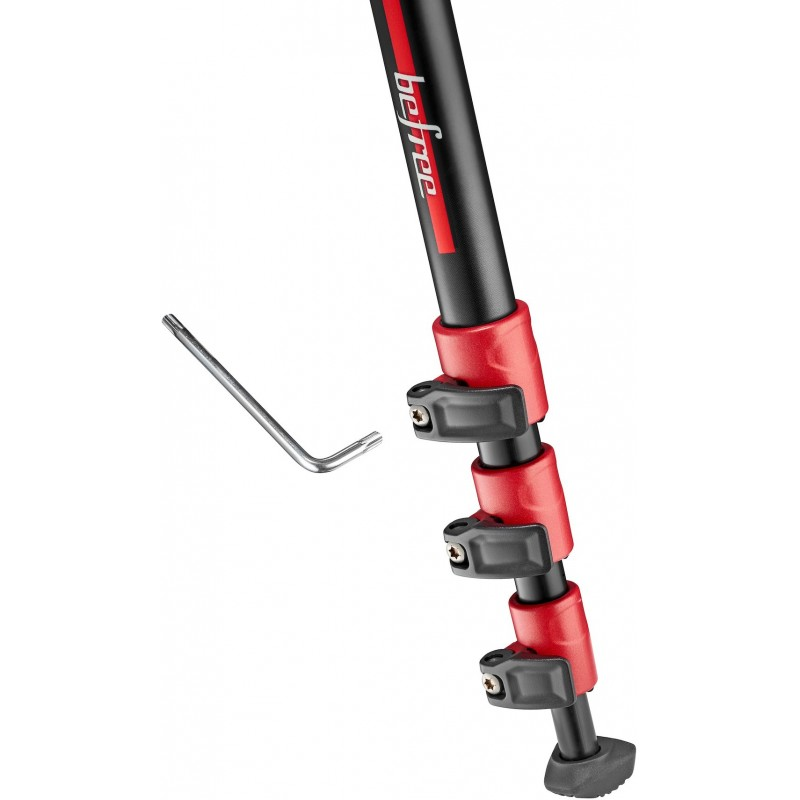 Manfrotto tripod Befree Color MKBFRA4RD-BH, red (no package)