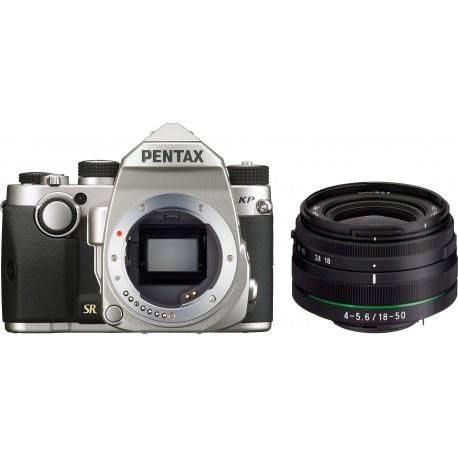 Pentax KP + DA 18-50 мм RE Kit, серебряный