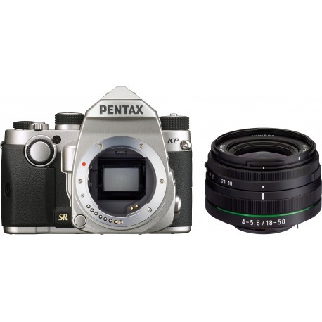 Pentax KP + DA 18-50mm RE Kit, sudrabots