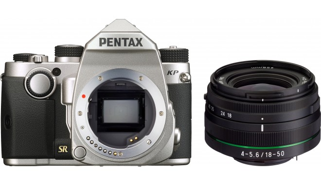 Pentax KP + DA 18-50mm RE Kit, silver