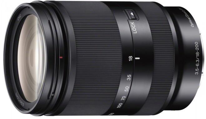 Sony E 18-200мм f/3.5-6.3 OSS объектив, чёрный