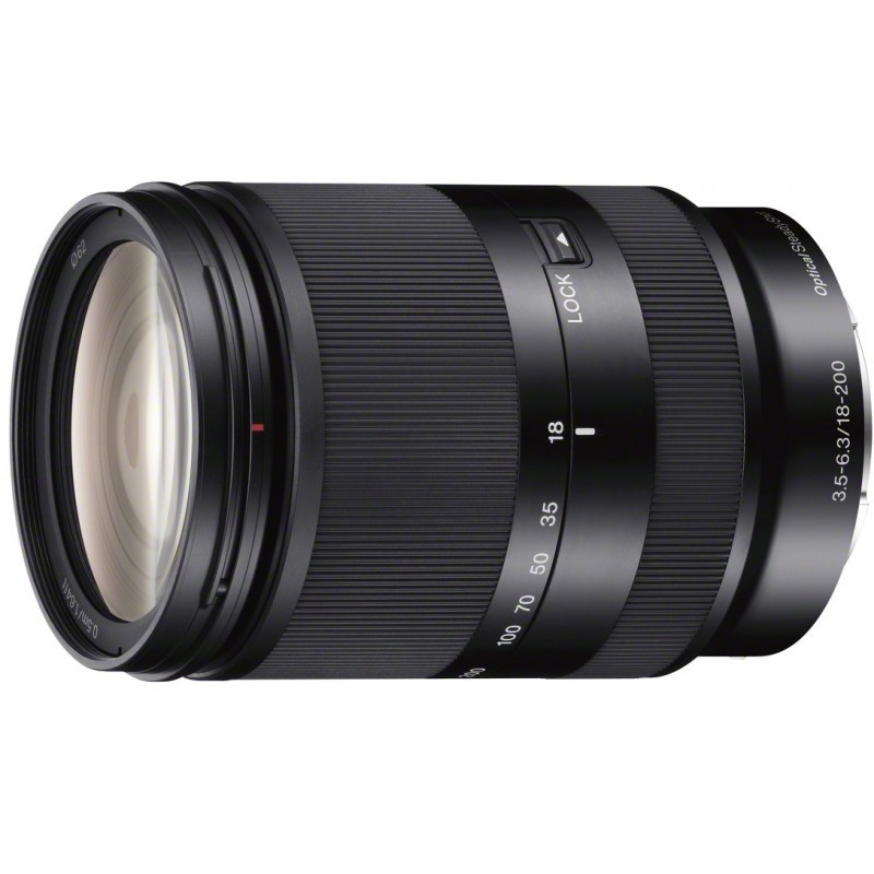 Sony E 18-200mm f/3.5-6.3 OSS, black