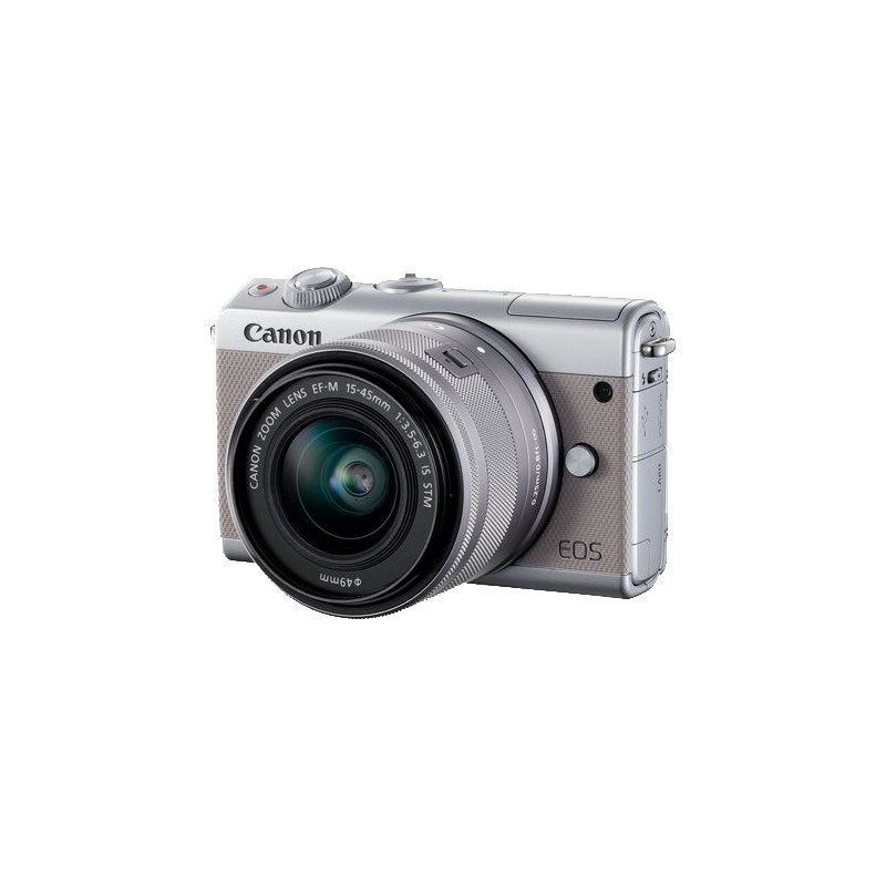 Canon EOS M100 + EF-M 15-45mm IS STM, silver