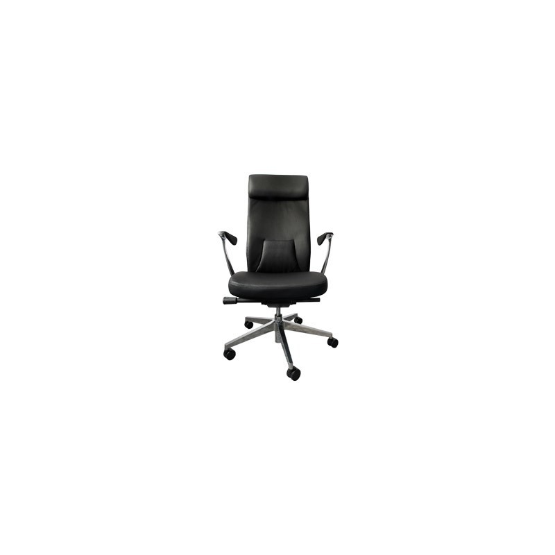 4Worldstyle Office Armchair F006, Artificial Leather, Black