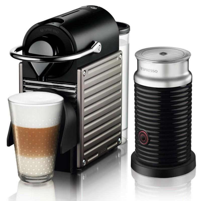 Krups capsule coffee machine Nespresso Pixie Bundle, titan - Coffe ...