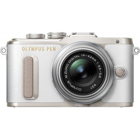 Olympus PEN Lite E-PL8 + 14-42mm II R Kit, white/silver