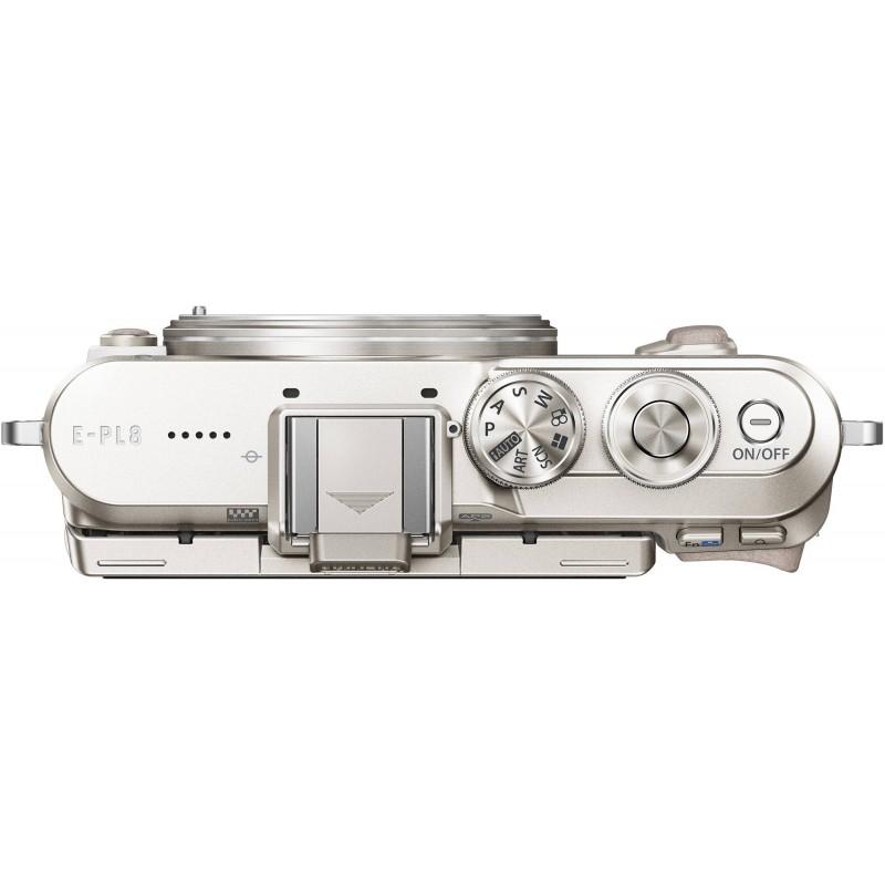Olympus PEN Lite E-PL8 + 14-42mm II R Kit, white/silver