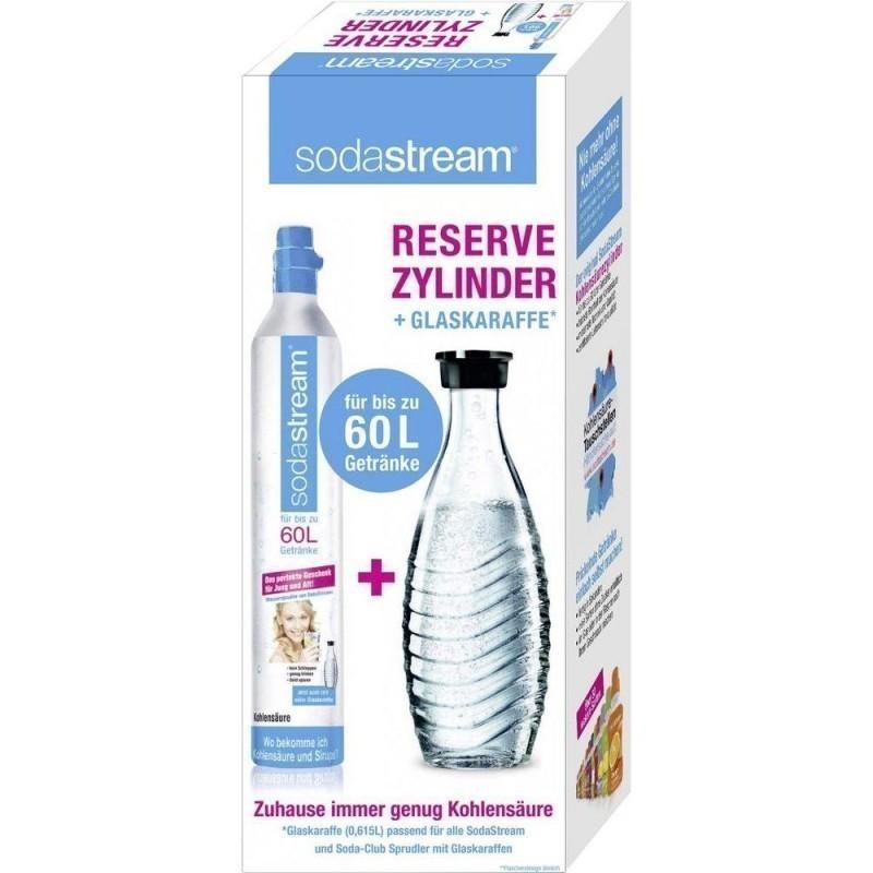 Sodastream Reserve Zylinder 50 60 Ltr Glas Karaffe