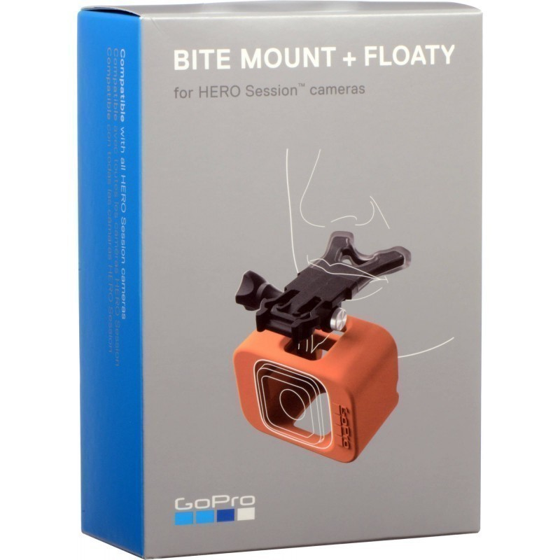 GoPro Bite kinnitus + Floaty Hero Session