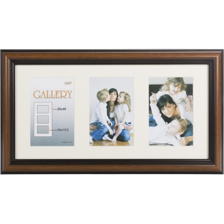 Photo frame Ema Gallery 20x40/3/10x15, brown (VF3969)