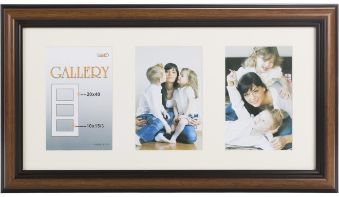 Pildiraam Ema Gallery 20x40/3/10x15, pruun (VF3969)