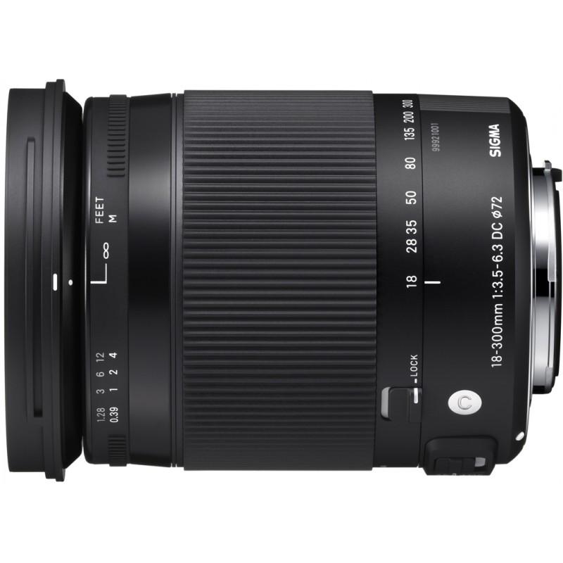 Sigma 18-300mm f/3.5-6.3 DC Macro OS HSM Contemporary objektiiv Canonile