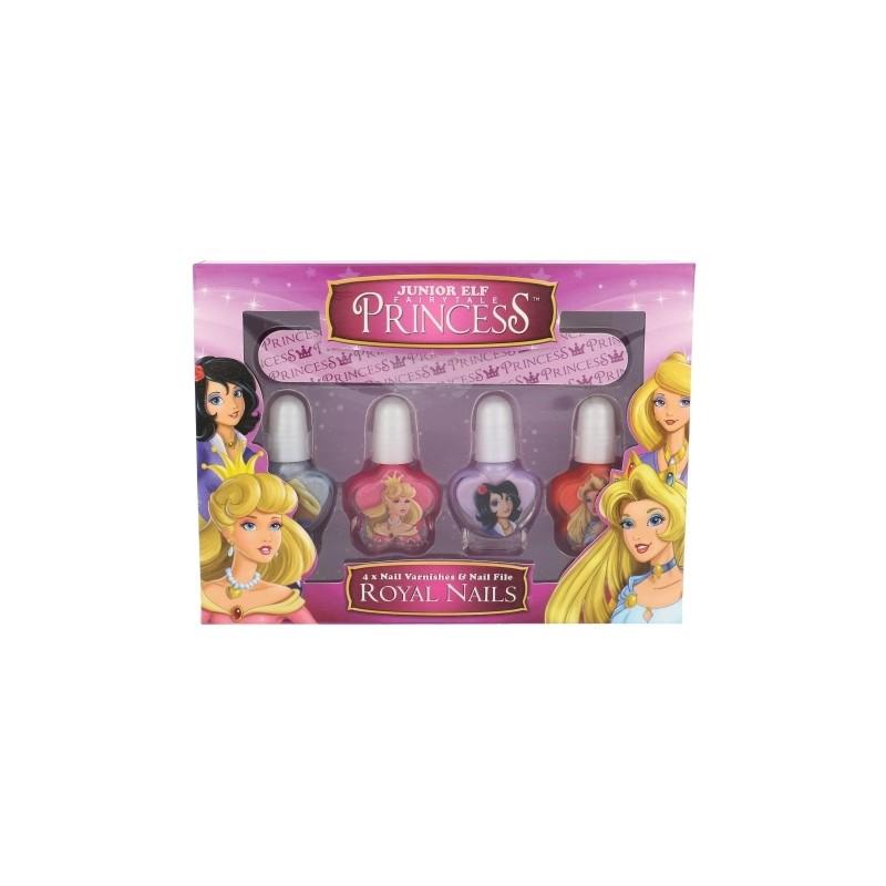 Disney Princess Royal Nails Kit (4ml) (nail polish 4 x 4 ml + nail ...