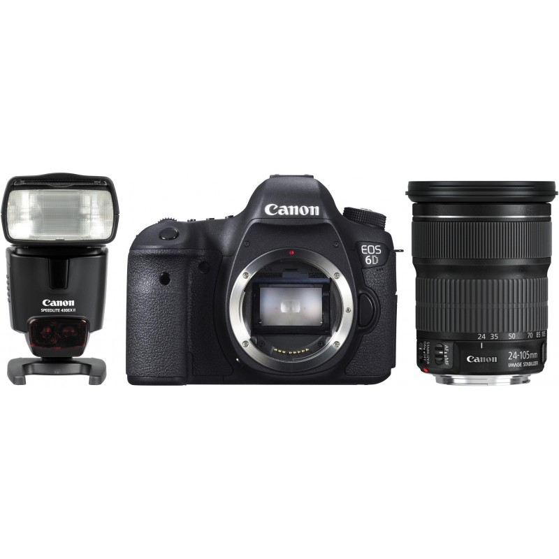 Canon EOS 6D + 24-105mm IS STM Kit + 430EX II