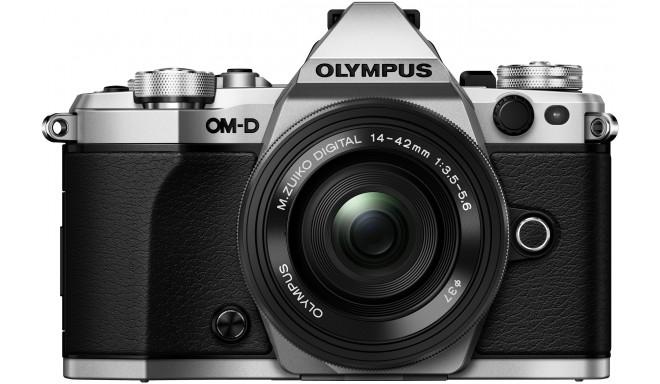 Olympus OM-D E-M5 Mark II + 14-42mm EZ Kit, hõbedane