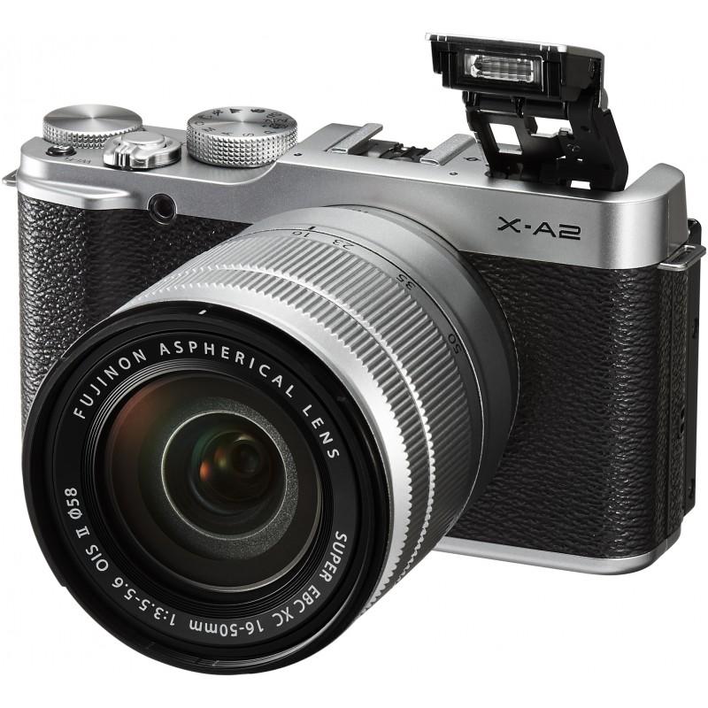 Fujifilm X-A2 + 16-50mm, hõbedane