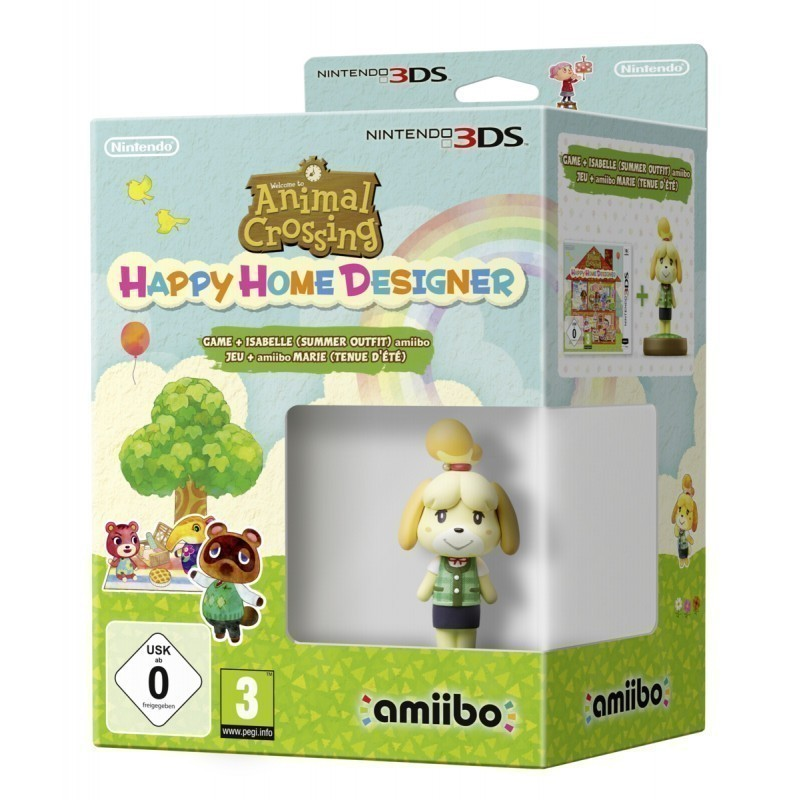 Nintendo 3DS Animal Crossing: Happy Home Designer + amiibo - Games on