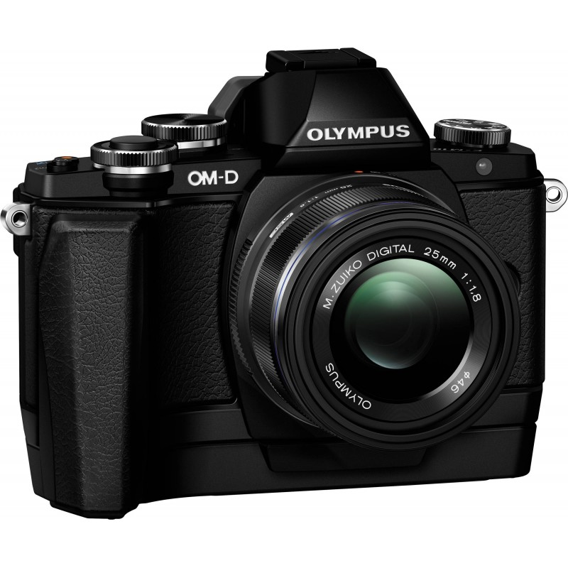 Olympus OM-D E-M10 + 14-42mm EZ + ECG-1 käepide Kit, must