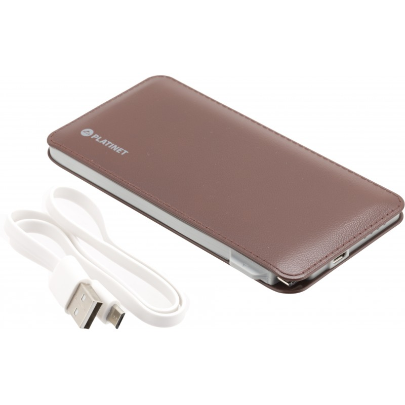 Platinet Power Bank Leather 6000mAh, pruun (42835)