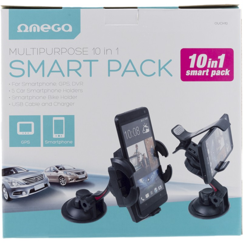 Omega universal car holder 10in1 Smart Pack (OUCH10)