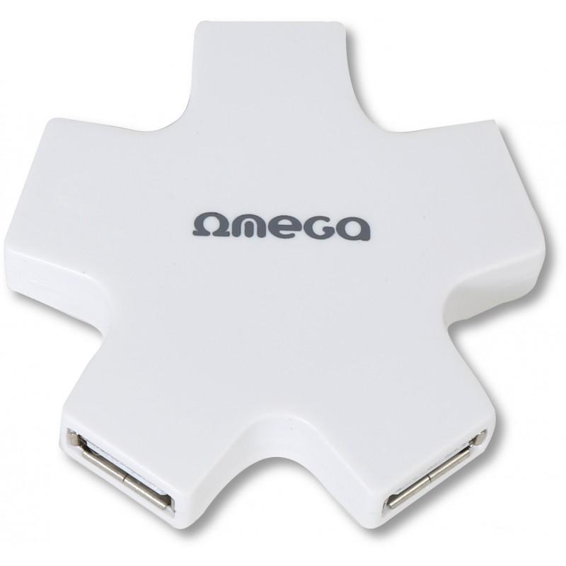 Omega USB 2.0 HUB 4-port OUH24SW, valge