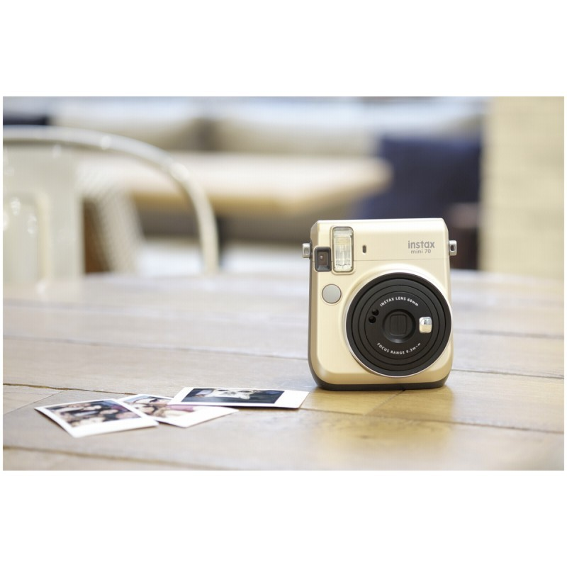 fujifilm instax mini 70 gold felt bag instant cameras. Black Bedroom Furniture Sets. Home Design Ideas