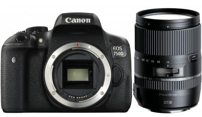 Canon EOS 750D + Tamron 16-300mm VC PZD