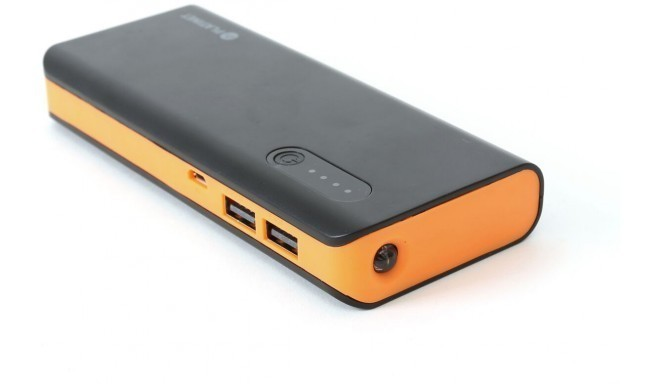 Platinet Power Bank 8000mAh + kabatas lukturis, melns/oranžs