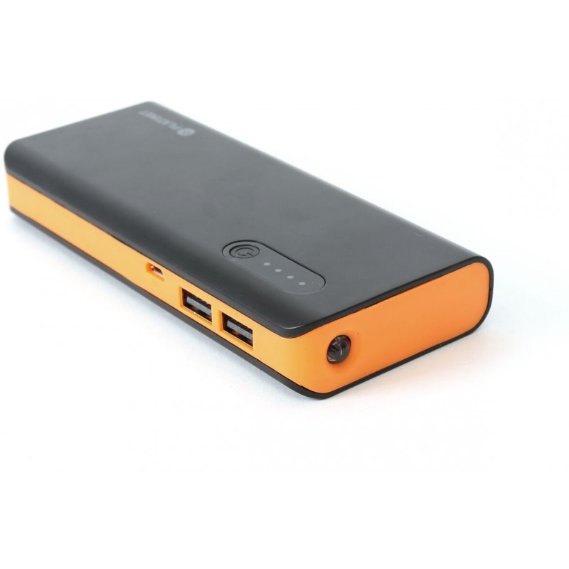 Platinet Power Bank 8000mAh + flashlight, black/orange