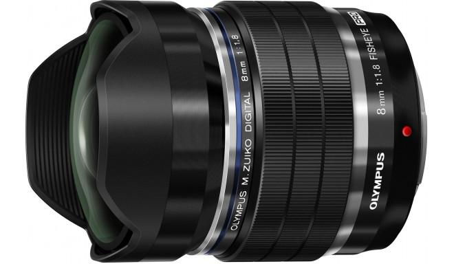 M.Zuiko Digital ED 8mm f/1.8 Fisheye PRO objektīvs