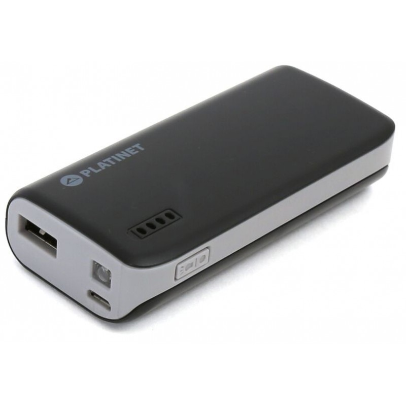 Platinet Power Bank 4400mAh + taskulamp, must/hall