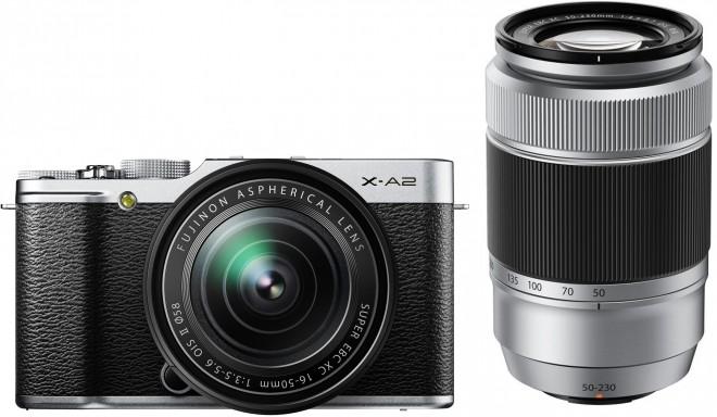 Fujifilm X-A2 + 16-50мм + 50-230мм Kit, серебристый