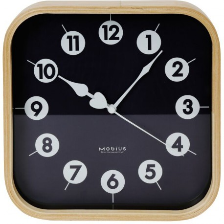 Platinet настенные часы Morning, черные (42987)