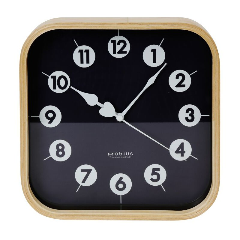Platinet wall clock Zegar Morning, black (42987)