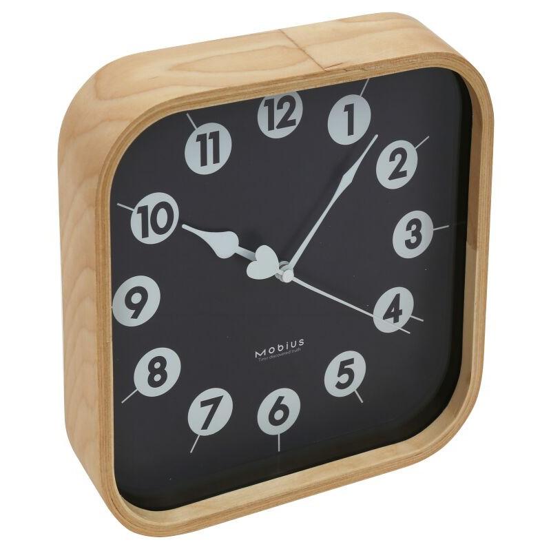 Platinet wall clock Zegar Morning, black (42987)
