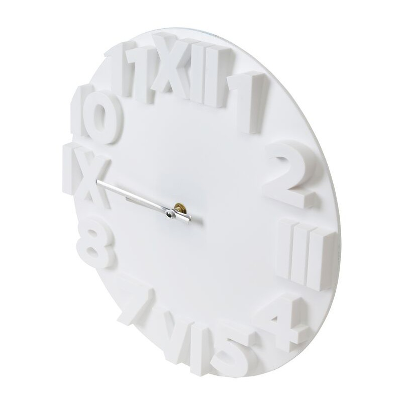 Platinet Wall Clock Modern White 42986 Wall Clocks
