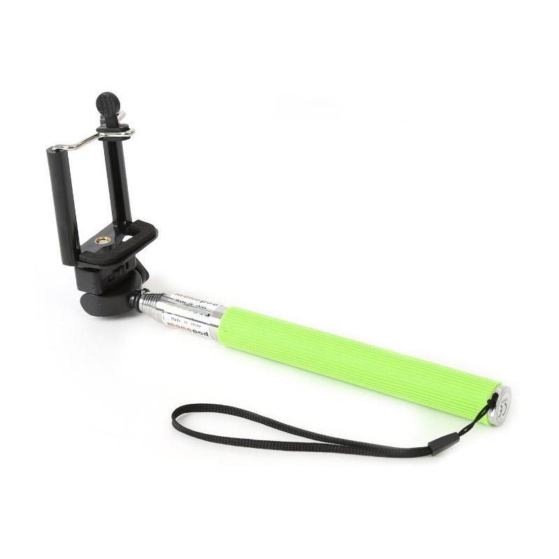 Omega käsistatiiv Selfie Monopod OMMPKG, roheline (43019)