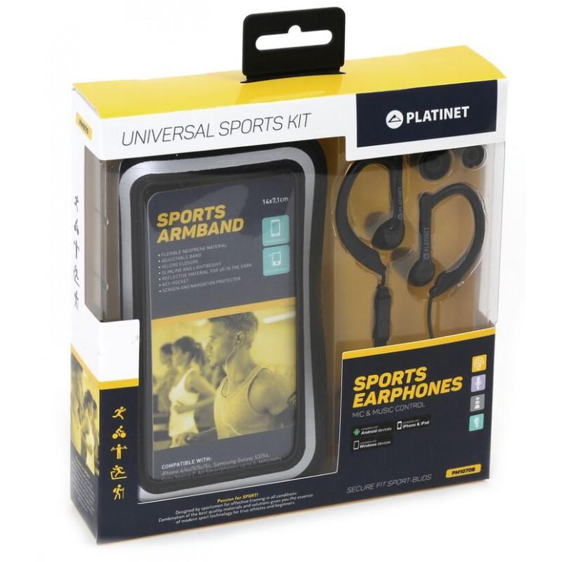 Platinet Universal Sports Kit, black (42926)