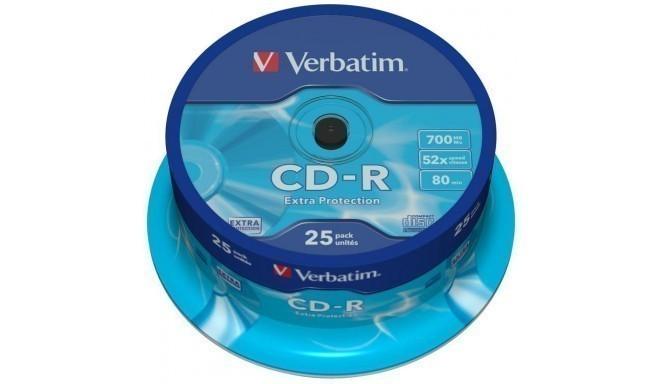 Verbatim CD-R Extra Protection 700MB 52x 25tk tornis