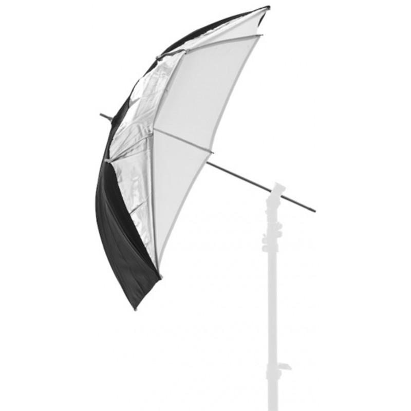 Lastolite vihmavari Dual-duty 93cm, hõbe/must/valge (4523F)