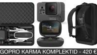GoPro Karma droonikomplektide hinnad kukkusid 420 eurot