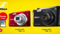 При покупке Nikon Coolpix A100 или A300 карта памяти в подарок