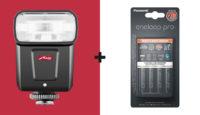 При покупке вспышки Metz M360 получите в подарок зарядное устройство + аккумуляторы Panasonic eneloop Pro