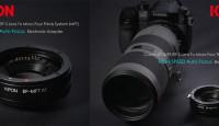 Kipon EF-MFT — первый электронный адаптер для объективов Canon с беззеркальными камерами Olympus и Panasonic